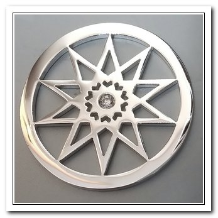 Coin C-09 - Star With CZ - Silver