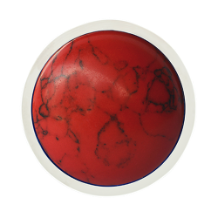 Coin C-19-A - Cabochon - Red Hotwire