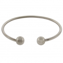 Solid Bangle Bracelet with Ball End