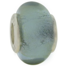 Glass Birthstone Bead with Silver Core - June - Alexandrite