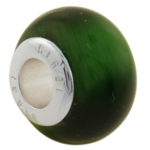 Stone Cat Eye Bead - Green