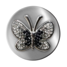 Coin C-51 - Swarovski Butterfly Black & Clear