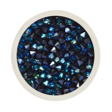 Coin C-53 - Swarovski Rock Pattern - Blue