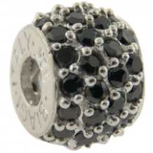 Pave CZ Bead - Select - Wheel with many CZ's - Black