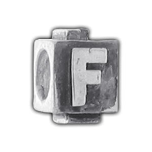 Silver Puffy Letter - F