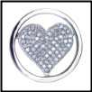 Coin C-34A - Large Heart with CZ Clear