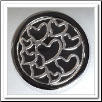 Coin C-44 - Multi Hearts - Black Base - Silver