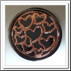 Coin C-45 - Multi Hearts - Black Base - Rose Gold