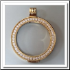 Coin Pendant - Pendant CZ - Yellow Gold