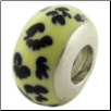African Enamel Beads - Cheetah Pattern