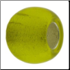 Murano Style Glass with Silver Leafing - Yellow