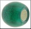 Birthstone - Murano Style Glass With Silver Leafing - May - Emerald