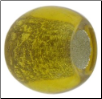 Birthstone - Murano Style Glass With Silver Leafing - November - Citrine