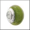 Geniune Designer Murano Glass Bead - Silver Sparkle - Lime Green - NEW