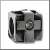 CZ Silver Bead - Square Crosses