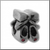 CZ Silver Bead - Ballet Slippers - Pink CZs