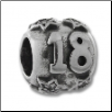 "CZ Silver Bead - CZ Star Ball with ""18"" - New"