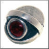 CZ Eye - Birthstone Bead - Jan - Garnet