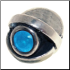 CZ Eye - Birthstone Bead - Mar - Aquamarine