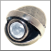 CZ Eye - Birthstone Bead - Apr - Clear