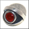 CZ Eye - Birthstone Bead - July - Ruby