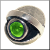 CZ Eye - Birthstone Bead - Aug - Peridot