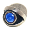 CZ Eye - Birthstone Bead - Dec - Blue Topaz