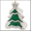 Enamel Bead - Christmas Tree - Green