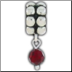 Dangle Beaded Birthstone - January - Garnet
