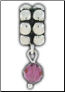 Dangle Beaded Birthstone - February - Amethyst