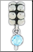 Dangle Beaded Birthstone - March - Aquamarine