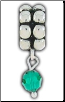 Dangle Beaded Birthstone - May - Emerald