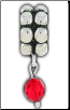 Dangle Beaded Birthstone - July - Ruby