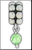Dangle Beaded Birthstone - August - Peridot