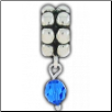 Dangle Beaded Birthstone - September - Sapphire