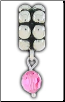 Dangle Beaded Birthstone - October - Rose