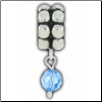 Dangle Beaded Birthstone - December - Blue Topaz