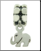 Dangle Beaded Silver - Elephant