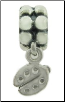 Dangle Beaded Silver - Ladybug