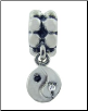 Dangle Beaded Silver - Cz Yin Yang