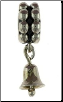 Dangle Beaded Silver - Bell With Clapper