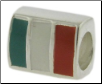 Enamel Flags - Double Sided - 2 Flags - Italy