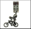 Dangle Smooth Silver - Bicycle Rider