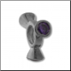 Silver CZ Spinner Wheel - Round Purple