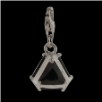 Silver  CZ Pendant Select Charm - Triangle with  black CZ - NEW