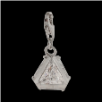 Silver  CZ Pendant Select Charm - Triangle with clear CZ - NEW