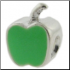 Enamel Bead - Apple - Green