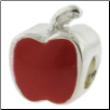 Enamel Bead - Apple - Red
