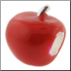 Enamel Bead - 3D - Apple - Red