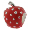 Enamel Bead - 3D - Strawberry